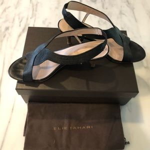"Elie Tahari 3"" Heel Sandal 100% Leather - Size 37"